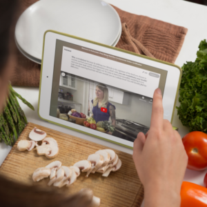 using-a-white-ipad-while-cooking